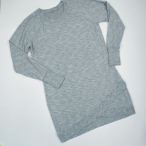 Athleta Gray Jersey Knit Midi Dress in Sz. Lg